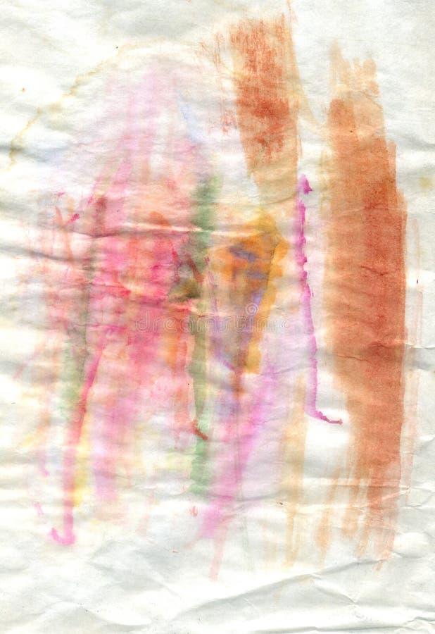 Papel colorido Crumpled ilustração do vetor