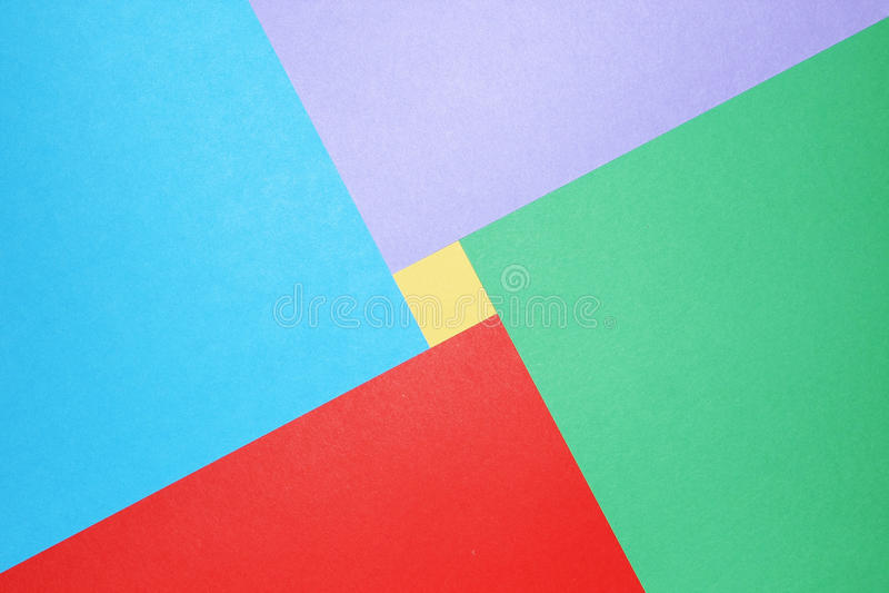 Papel colorido do sumário foto de stock