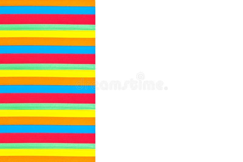 Papel colorido empilhado de seção transversal foto de stock