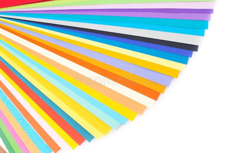 Papel colorido isolado no branco imagem de stock royalty free