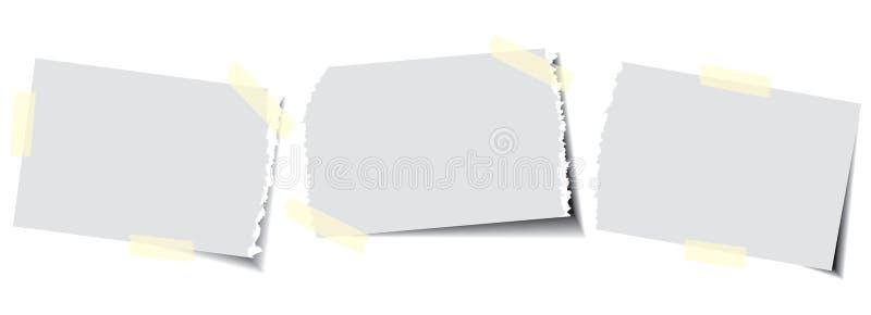 Papel com fita pegajosa ilustração stock