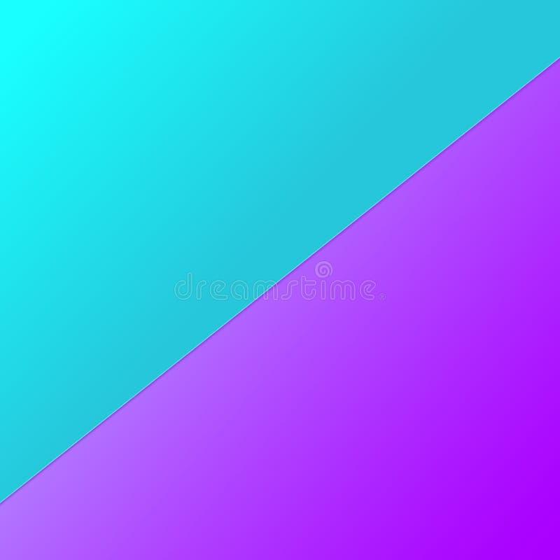 Papel com fundo de duas cores, ideia para a bandeira As composições geométricas abstratas forram folhas para o cartão, cartaz ilustração stock