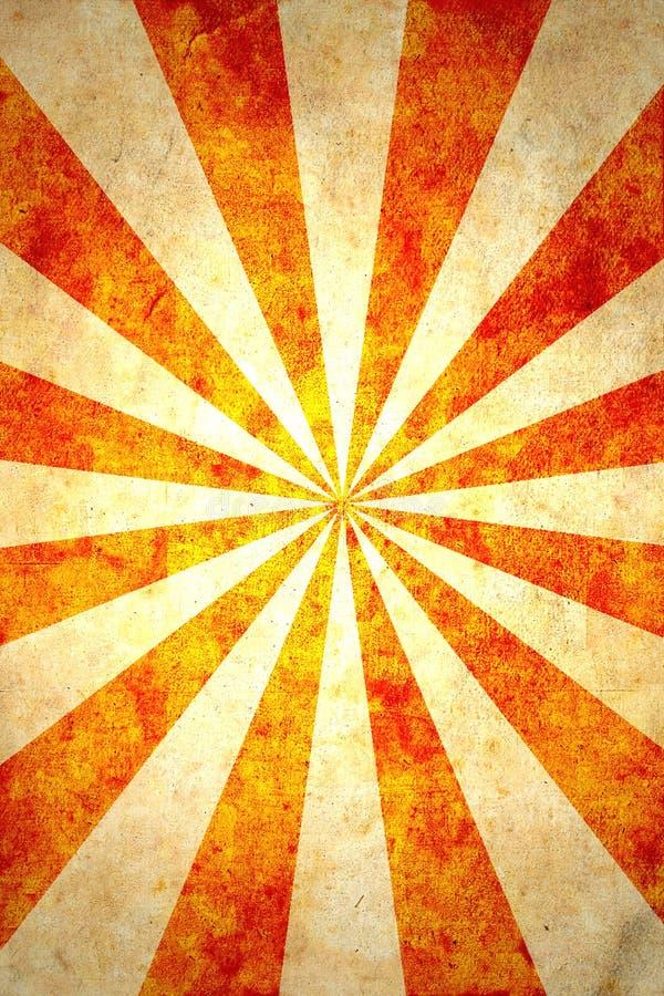 Papel com raias do sol ilustração royalty free