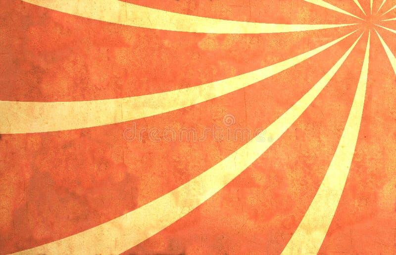 Papel com raias do sol ilustração do vetor