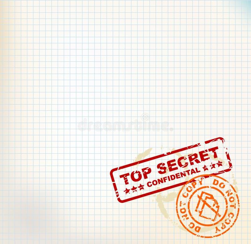 Papel com selos do segredo máximo ilustração do vetor