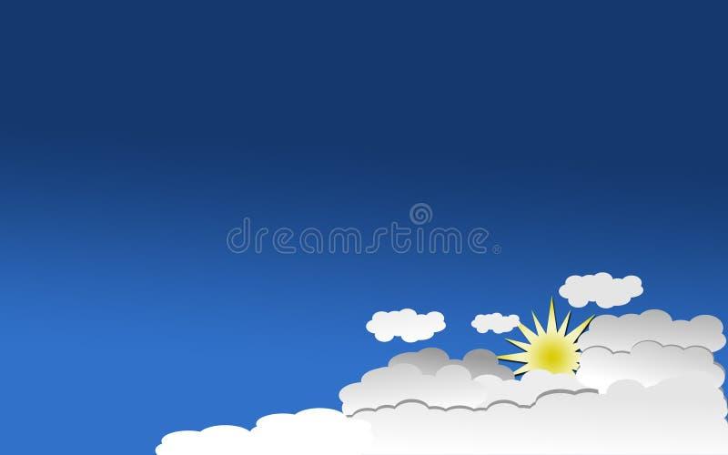 Papel como fondo para hacer su tarjeta de presentación o aviador stock de ilustración