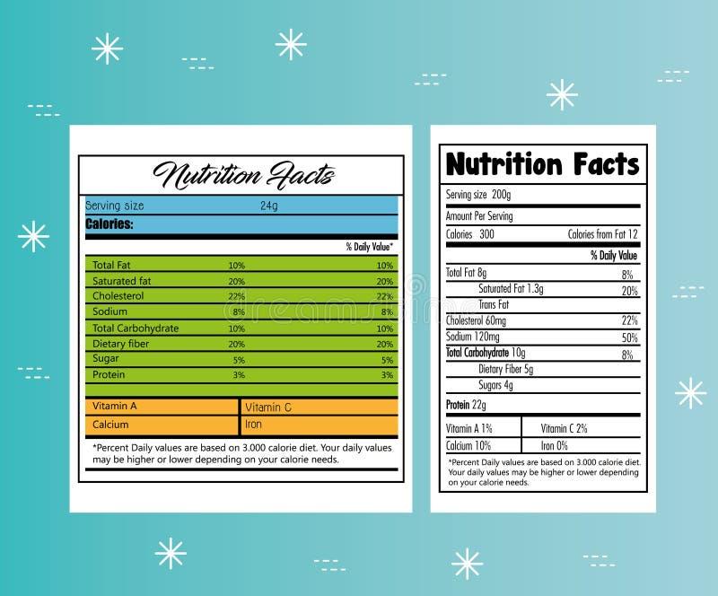 Papel con hechos de la nutrición libre illustration