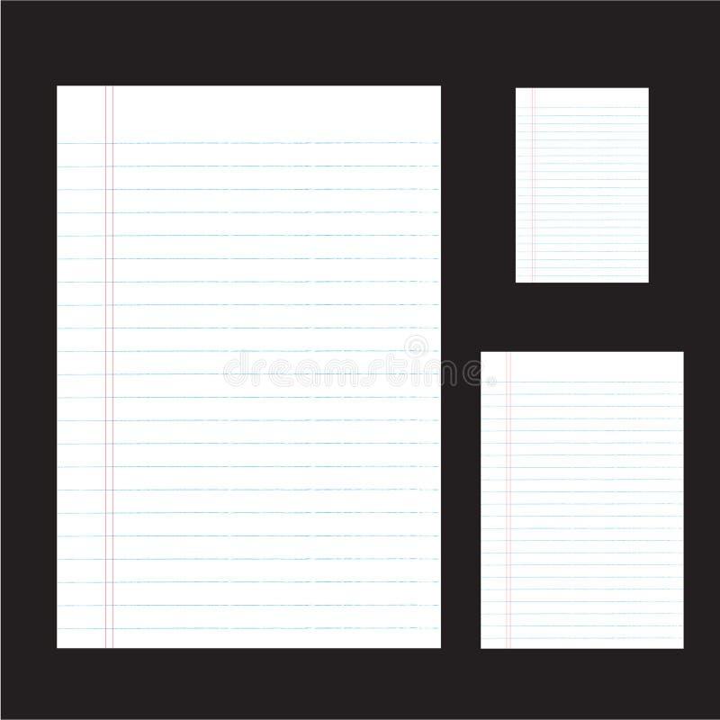 papel con línea lateral stock de ilustración