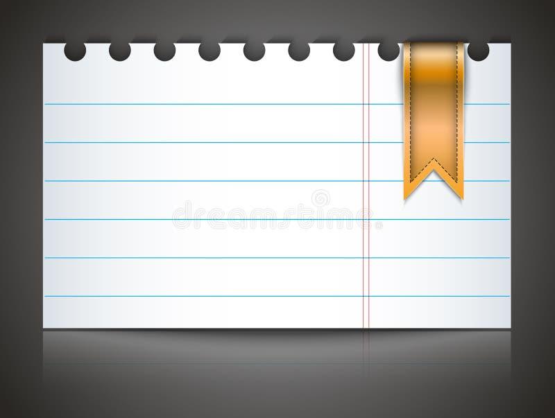 Papel del cuaderno con la señal libre illustration