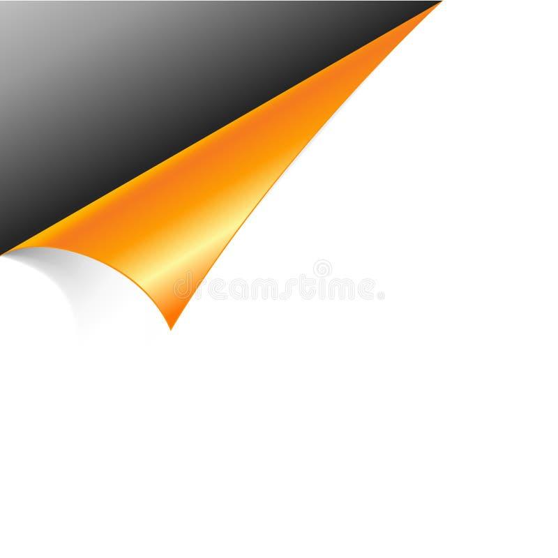 Papel con la esquina de la venda. ilustración del vector
