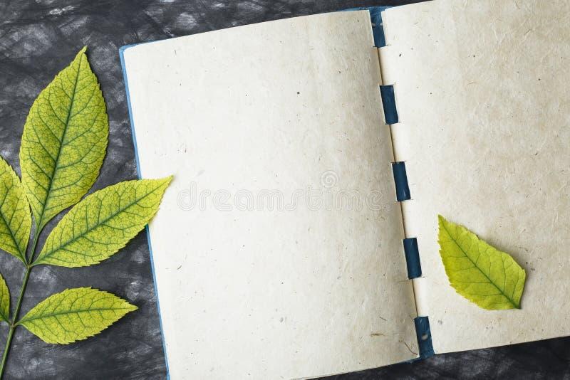 Papel con la textura, hoja amarilla del cuaderno imagen de archivo libre de regalías