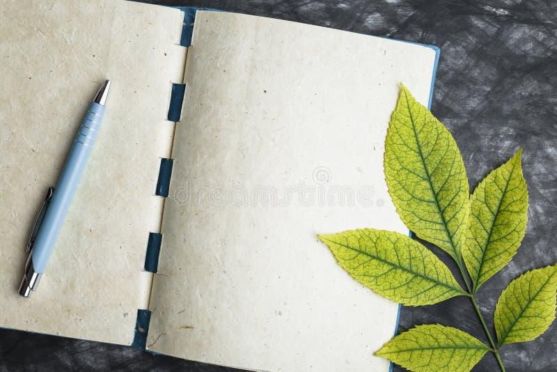 Papel con la textura, hoja amarilla del cuaderno imágenes de archivo libres de regalías