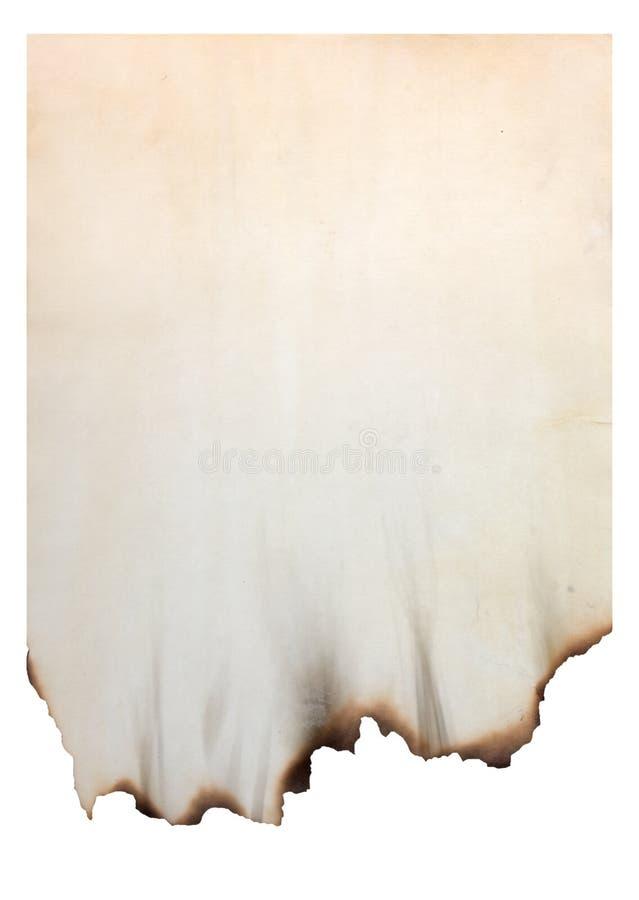 Papel con los bordes quemados fotografía de archivo