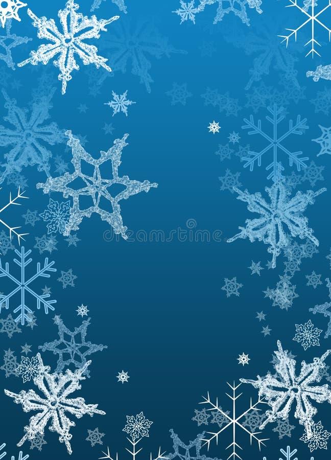 Papel-copos de nieve del fondo del día de fiesta de la Navidad libre illustration
