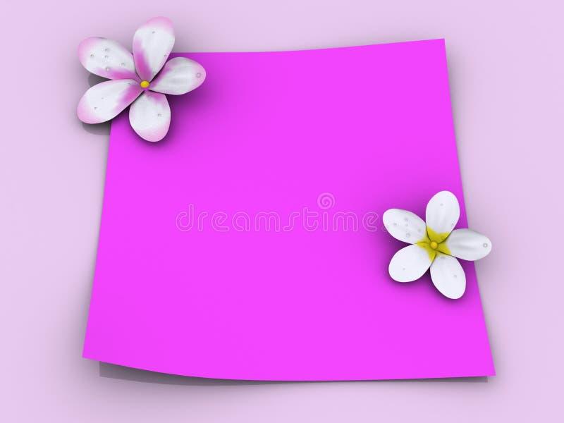 Papel cor-de-rosa ilustração do vetor