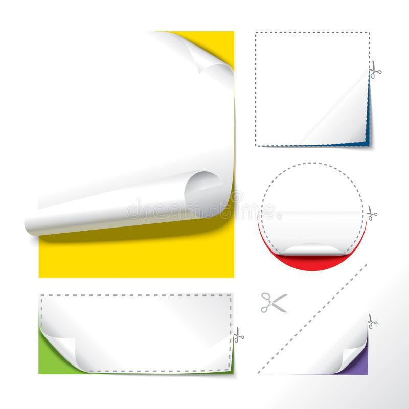 Papel cortado ilustração stock