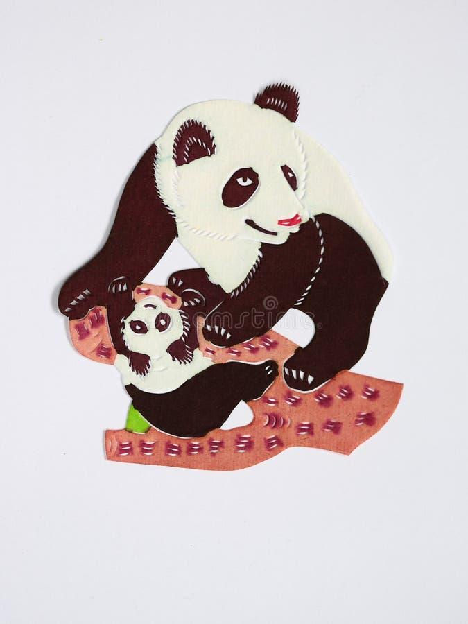 Papel-corte das pandas fotografia de stock royalty free