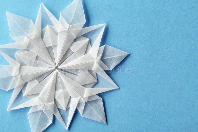 Papel 3d do floco de neve do Natal foto de stock