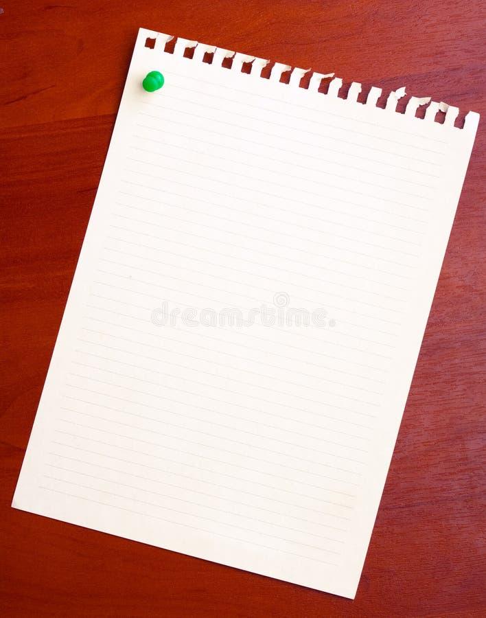Papel da folha em branco imagens de stock