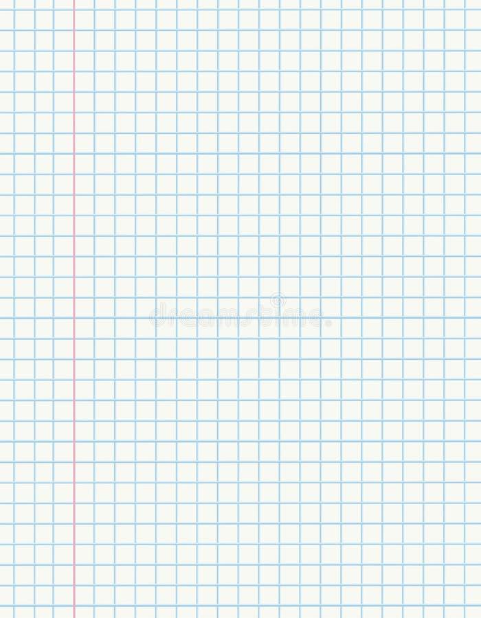 Papel da matemática ilustração stock