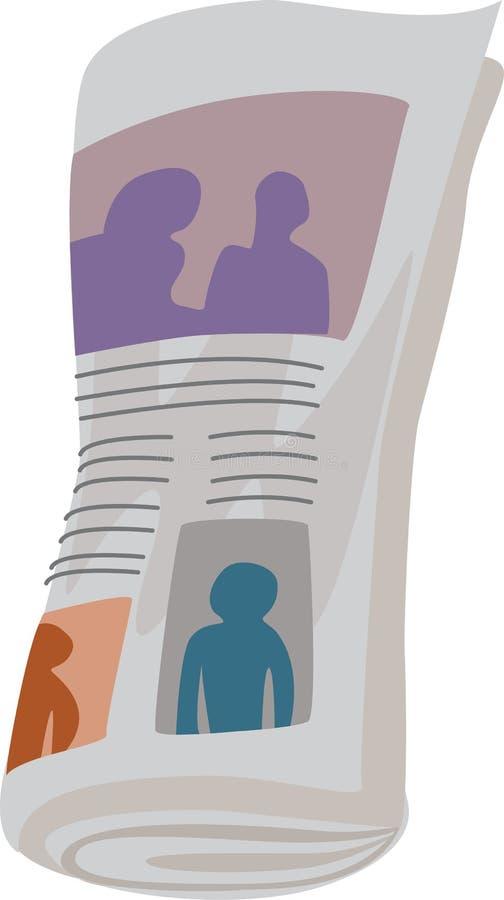 Papel da notícia ilustração stock