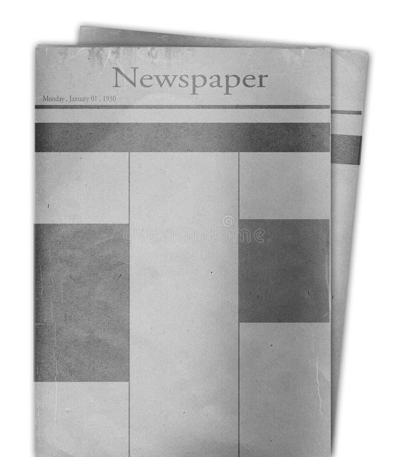 Papel da notícia ilustração do vetor