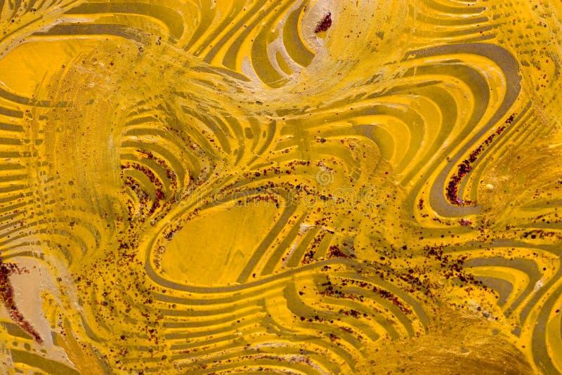 Papel da pasta: Redemoinhos amarelos e verdes ilustração do vetor