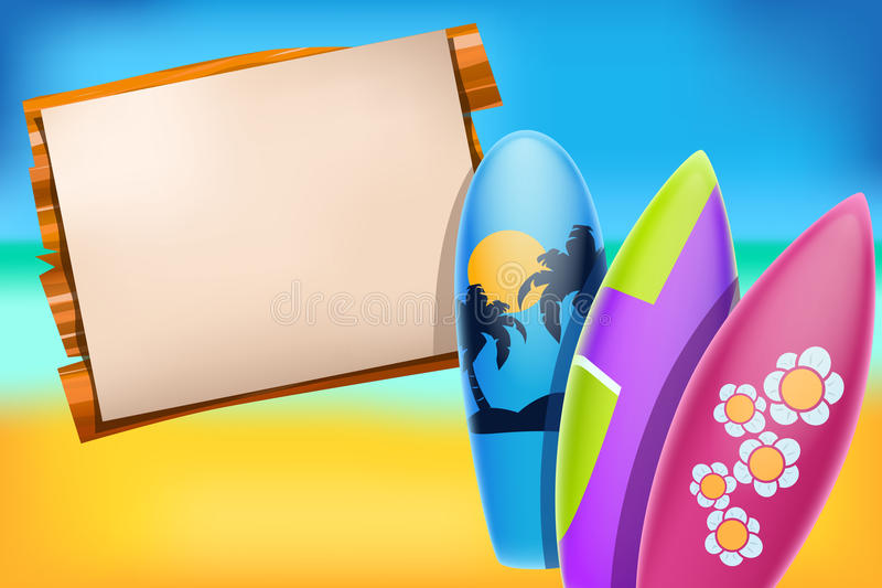 Papel da praia ilustração do vetor