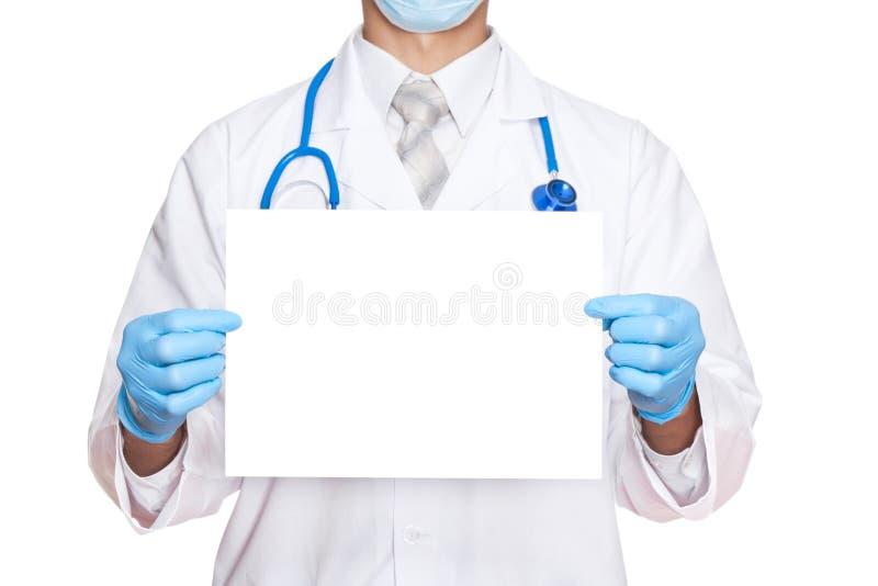 Papel da preensão do doutor do médico fotos de stock
