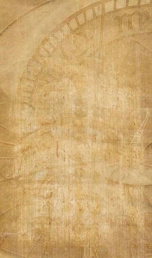 Papel de Afed con el reloj del zodizc ilustración del vector