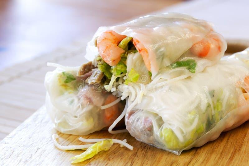 Papel de arroz Rolls fotos de stock