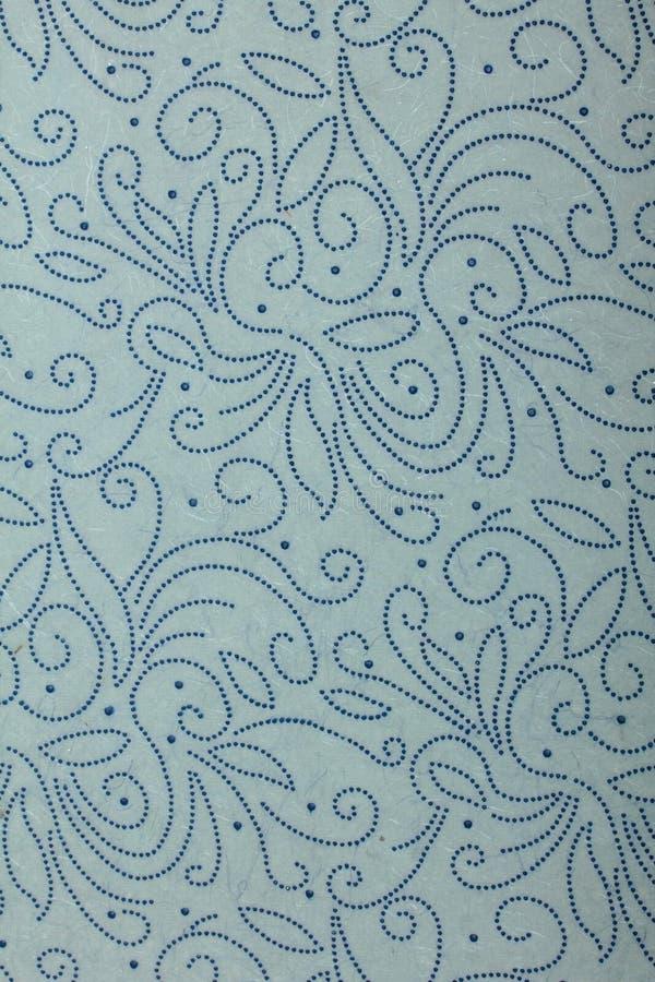 papel de arte hecho a mano Azul-gris con giros punteados imágenes de archivo libres de regalías