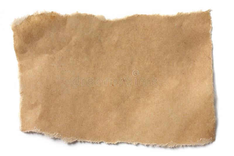 Papel de Brown rasgado foto de stock royalty free