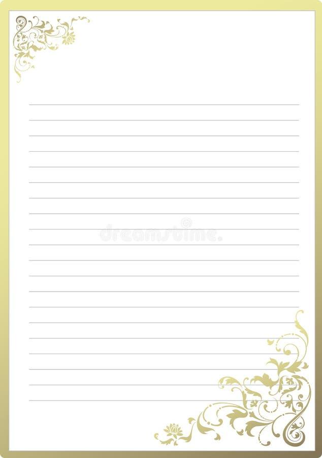 Papel de carta de lujo ilustración del vector