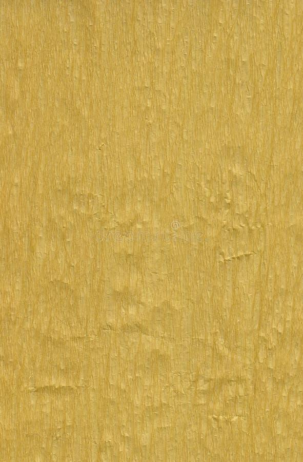 Papel de crepe de oro imagen de archivo libre de regalías