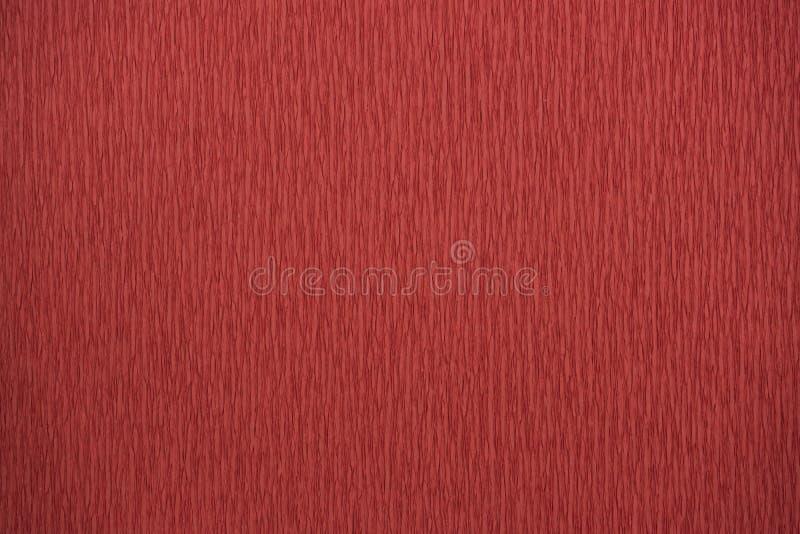 Papel de crespón natural de los colores rojos de las texturas estiramiento del 200 por ciento fotos de archivo libres de regalías