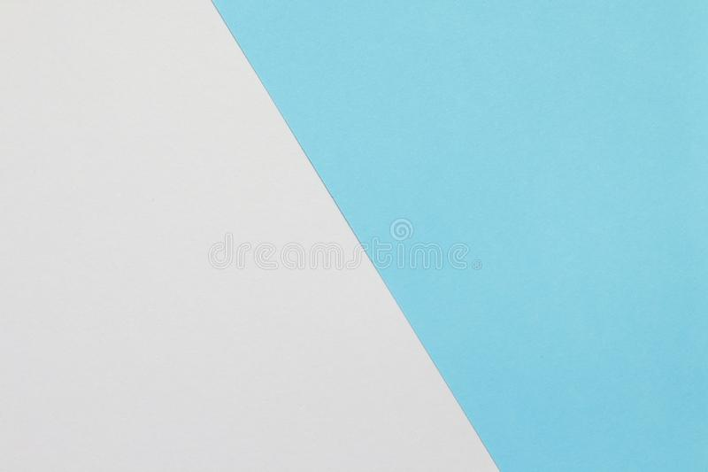Papel de duas cores com sobreposição azul e branca na metade do assoalho e da separação da imagem foto de stock royalty free