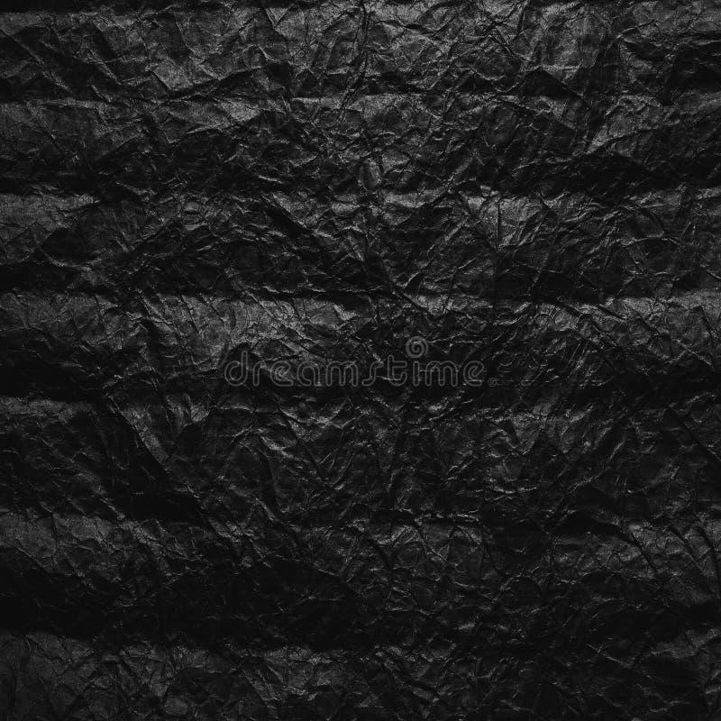 Papel de embalagem Amarrotado A textura amarrotou o papel marrom reciclado imagens de stock
