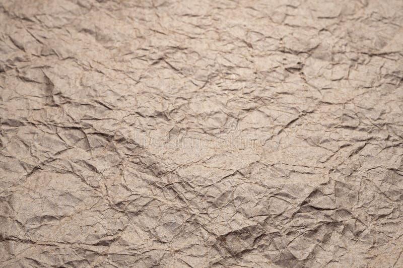 Papel de embalagem Amarrotado A textura amarrotou o papel velho reciclado fotos de stock royalty free