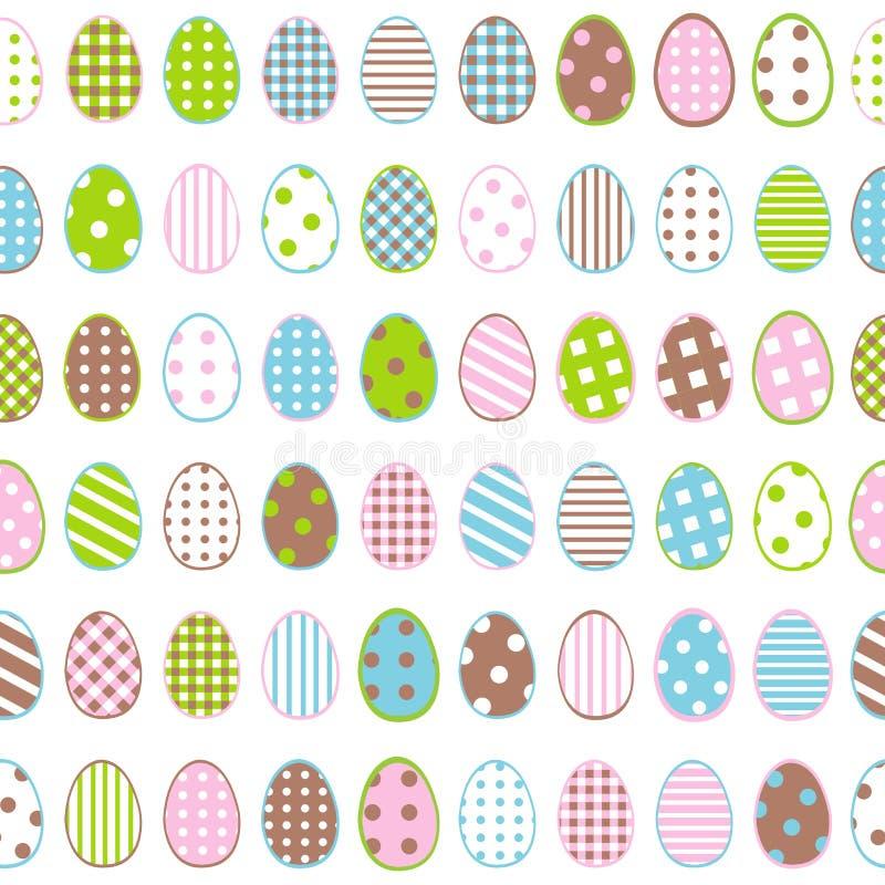 Papel de envolvimento da Páscoa com os ovos modelados no fundo branco ilustração royalty free