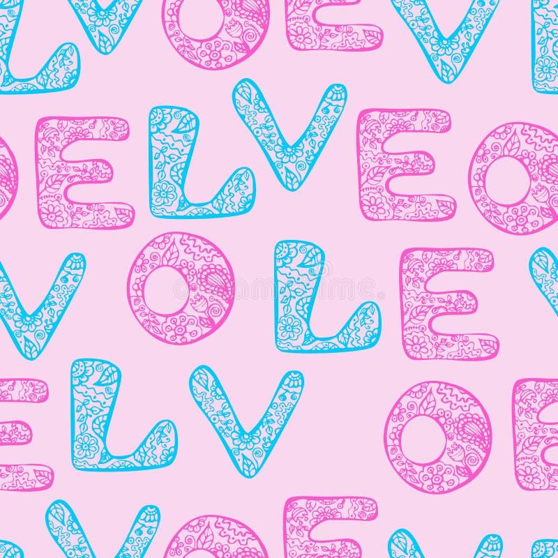 Papel de envolvimento do amor ilustração stock