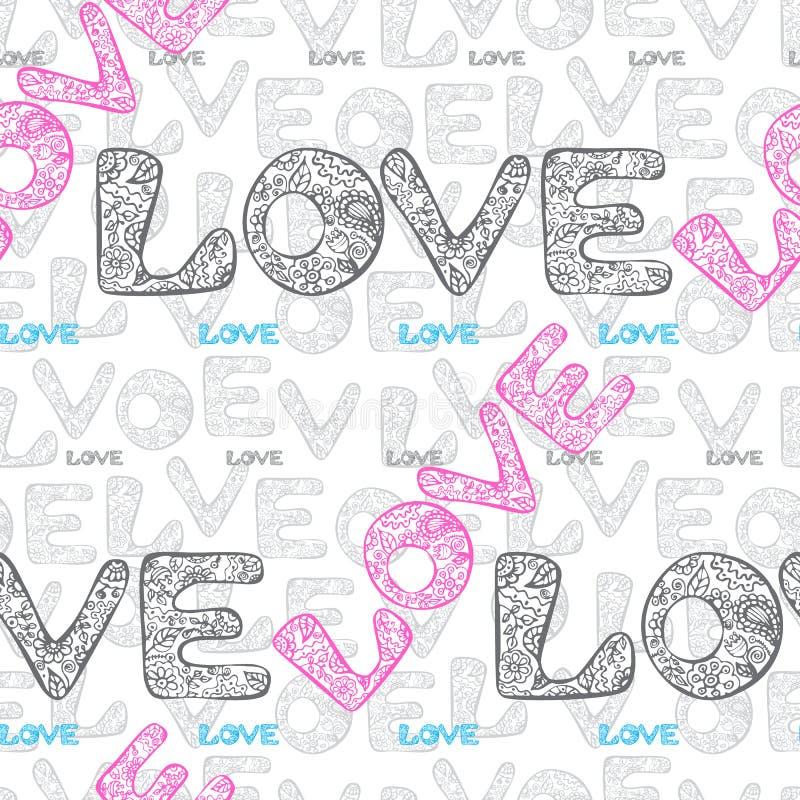 Papel de envolvimento do amor ilustração do vetor