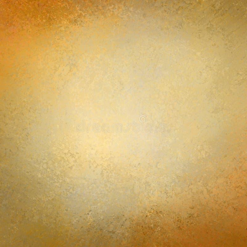Papel de fundo do ouro maciço com projeto da textura do grunge do vintage ilustração do vetor