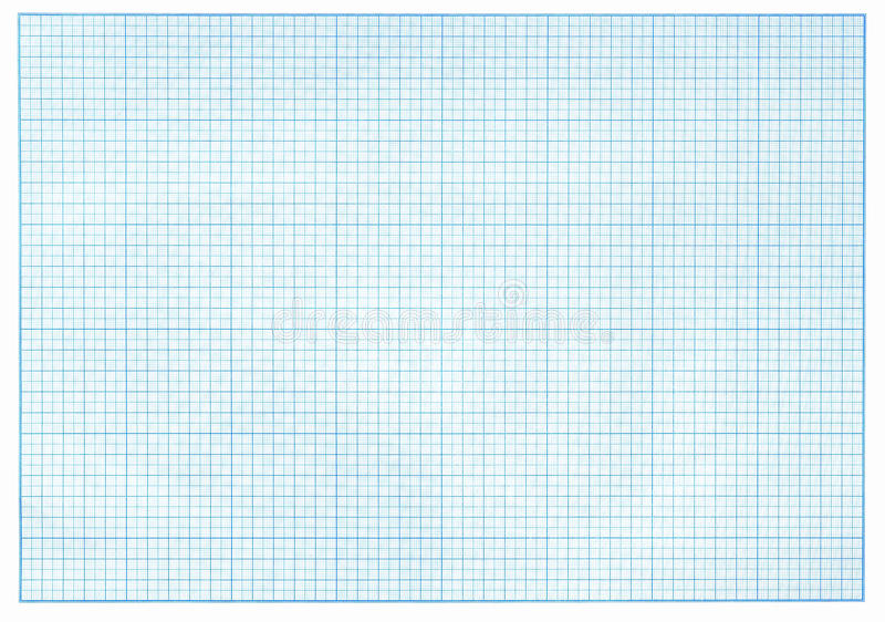 Papel de gráfico azul do milímetro ilustração do vetor