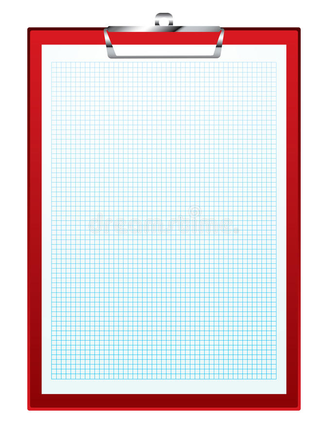 Papel de gráfico de la tarjeta de clip stock de ilustración