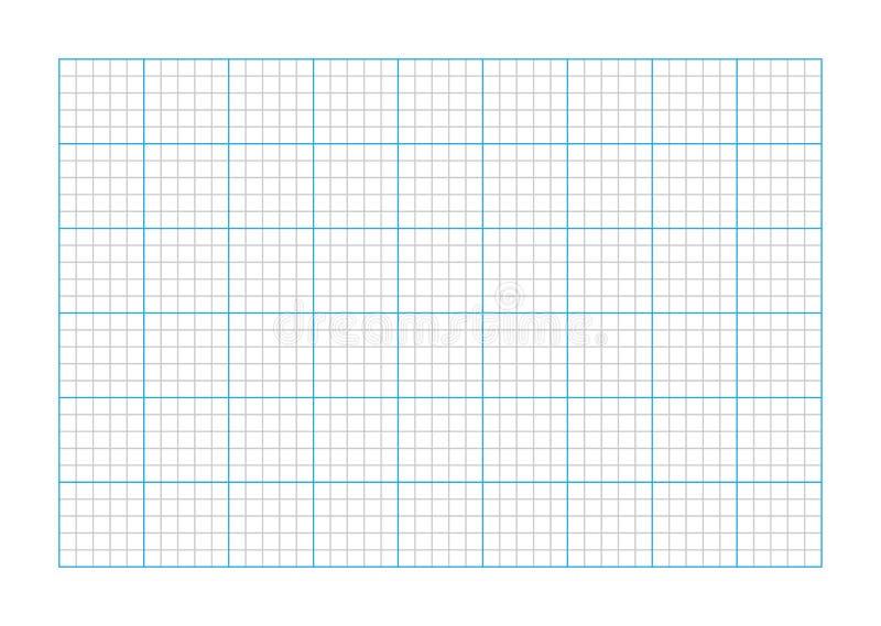 Papel de gráfico do tamanho A9 ilustração royalty free