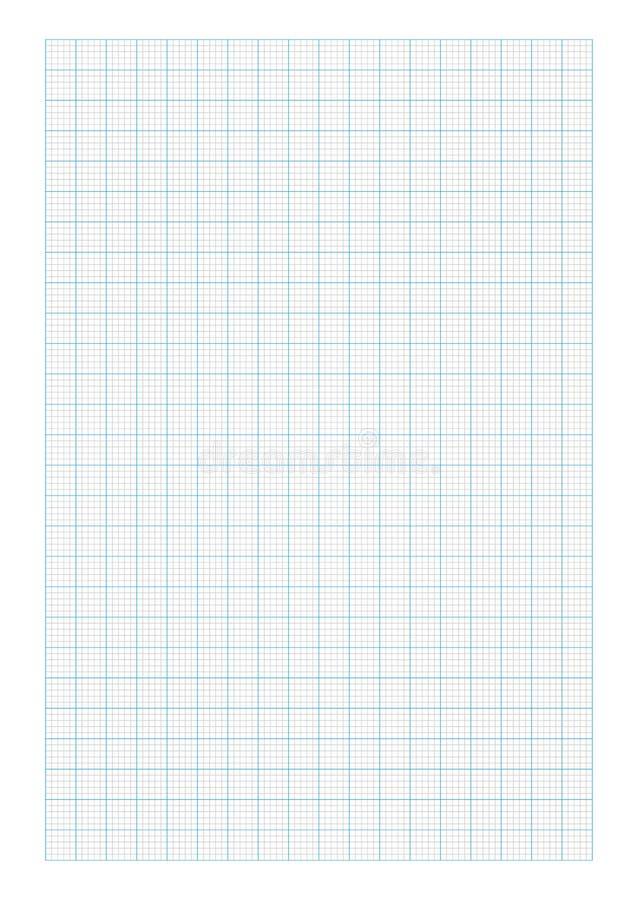 Papel de gráfico do tamanho A6 ilustração stock