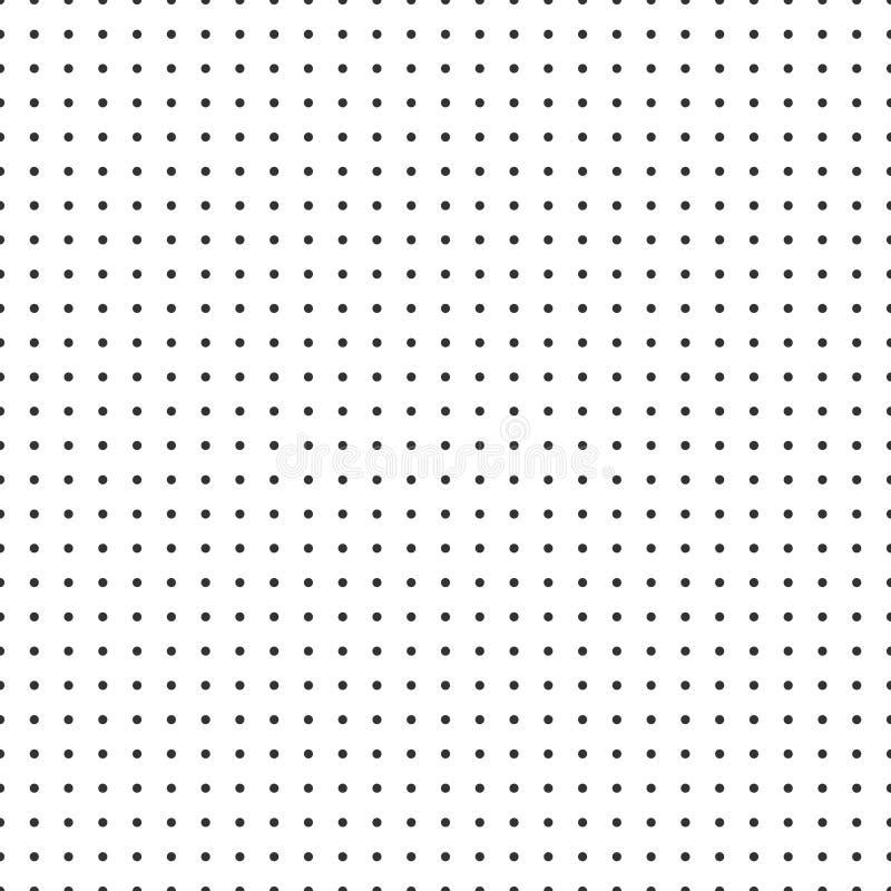 Papel de gráfico do papel do vetor da grade do ponto no fundo branco ilustração do vetor