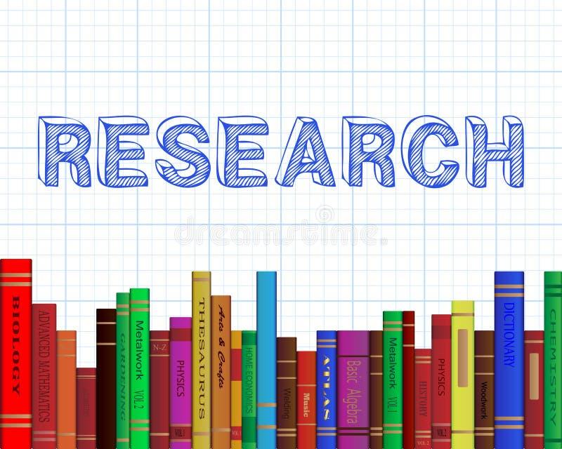 Papel de gráfico dos livros de pesquisa ilustração royalty free