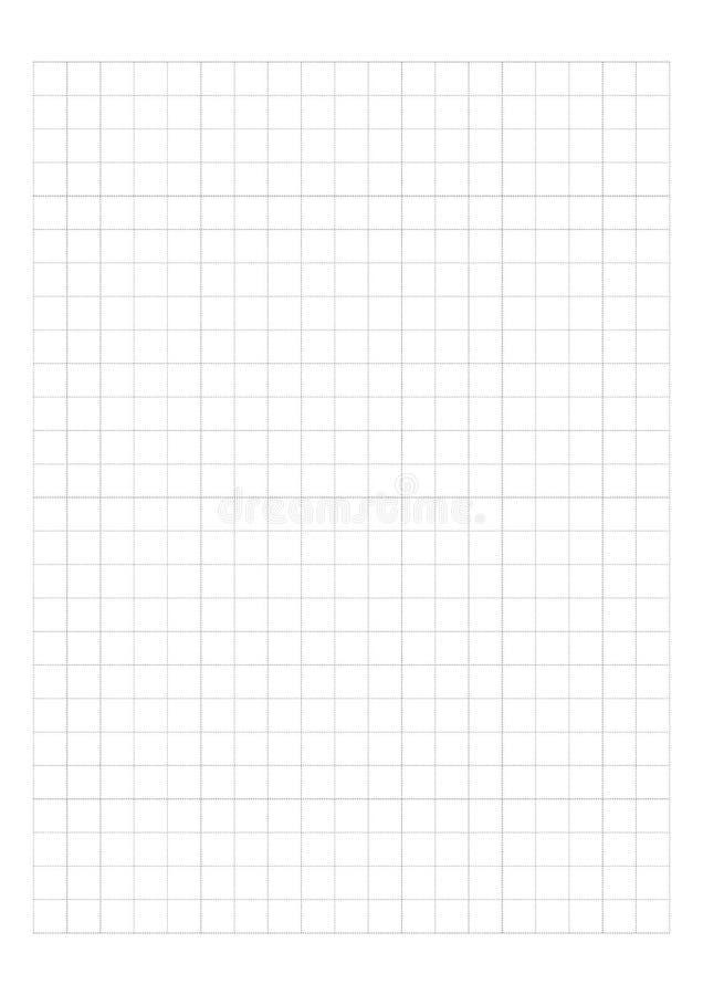 Papel de gráfico de Dot Grid Paper 1 cm no vetor branco do fundo ilustração stock
